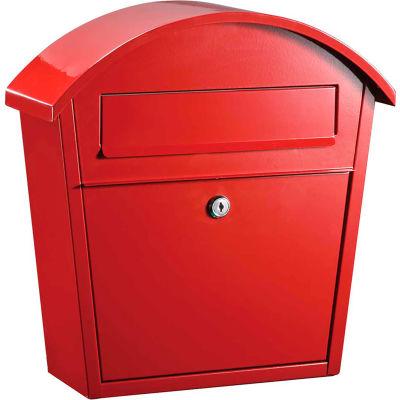 Winfield Series Ridgeline Wall Mount Locking Mailbox WF-PM16-RD Red