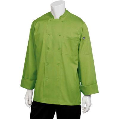 Chef Works® Genova Basic Chef Coat, Lime, XL - 2833LIMXL