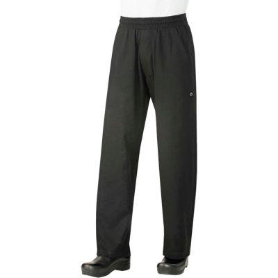 Chef Works® UltraLux Better Built Baggy Men's Chef Pants, Black, M - BSOLBLKM