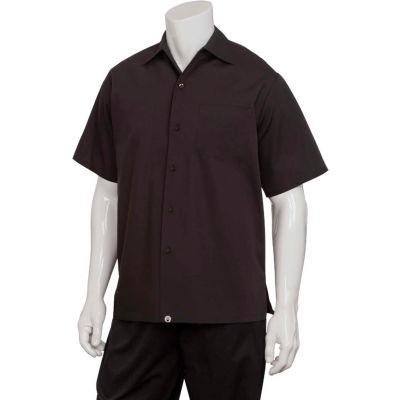 Chef Works® Cafe Shirt, Black, XS - C100BLKXS