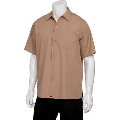 Chef Works® Cafe Shirt, Khaki, S - C100KHAS