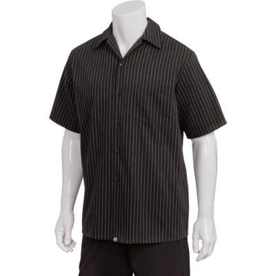 Chef Works® Pinstripe Cook Shirt, Charcoal Dash, XS - CCSBCDAXS