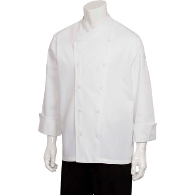 Chef Works® St. Maarten Basic Chef Coat, White, S - COCCWHTS