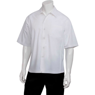 Chef Works® Cool Vent™ Cook Shirt, White, S - CSCVWHTS