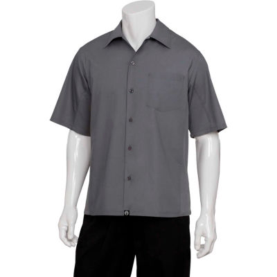 Chef Works® Universal Shirt, Gray, S - CSMVGRYS