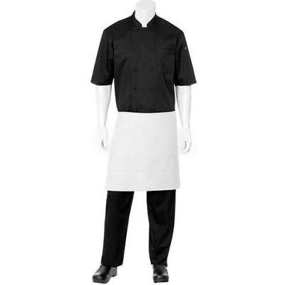 """Chef Works® F28WHT0, Half Bistro Apron, White, 19""""x27-1/2"""""""