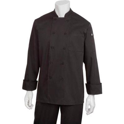 Chef Works® Calgary Cool Vent Basic Chef Coat, Black, S - JLLSBLKS