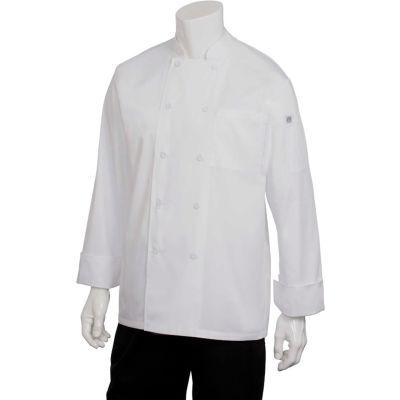 Chef Works® Calgary Cool Vent Basic Chef Coat, White, XL - JLLSWHTXL