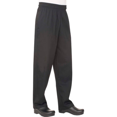 Chef Works® Basic Baggy Black Chef Pants, S - NBBP000S