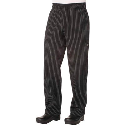 Chef Works® Designer Baggy Men's Pin Striped Chef Pants, XS - PINB000XS