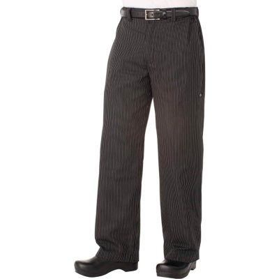 Chef Works® Professional Series Men's Striped Chef Pants, Gray Stripe, S - PSERGSTS