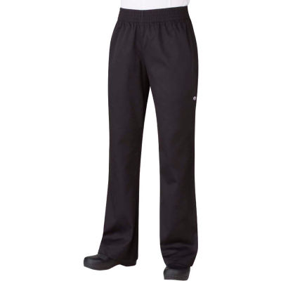 Chef Works® Women's Basic Baggy Pants, Black, XS - PW005BLKXS