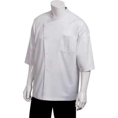 Chef Works® Positano Signature Series Chef Coat, White W/White Trim, XL - SI34WWTXL