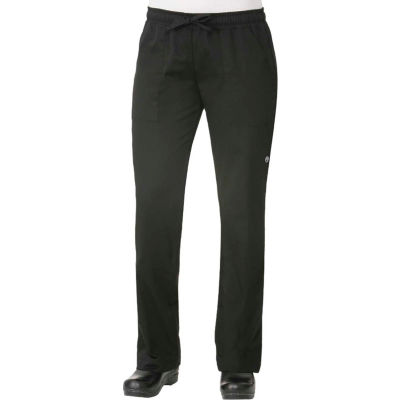 Chef Works® Black Women's Chef Pants, L - WBLK000L