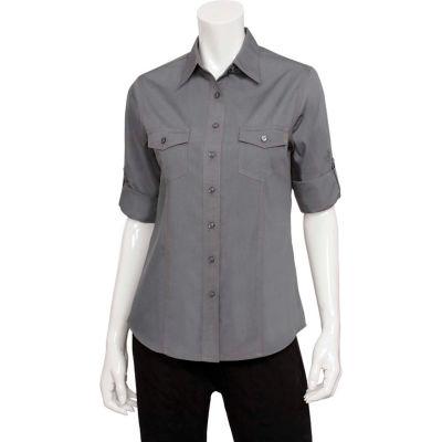 Chef Works® Women's Two-Pocket Shirt, Gray, M - WPDSGRYM