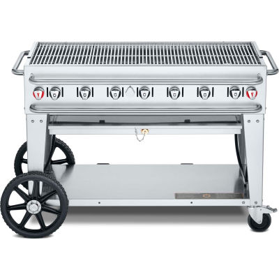 """Crown Verity Rental Mobile Grill 48"""" LP - Double Inlet - RCB-48"""