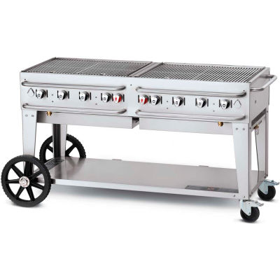 "Crown Verity Rental Mobile Grill 60"" LP - Double Inlet - RCB-60"
