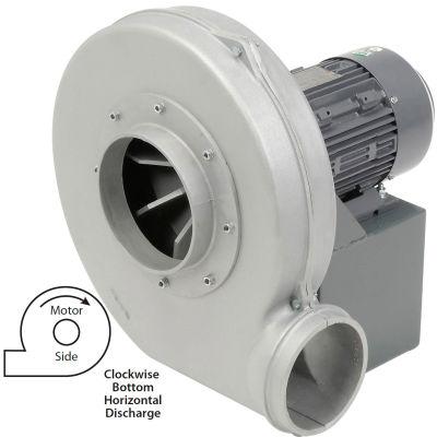 Americraft Aluminum Blower, HADP14-5-T-TE-CWBH, 5 HP, 3 PH, TEFC, CW, Bottom Horizontal