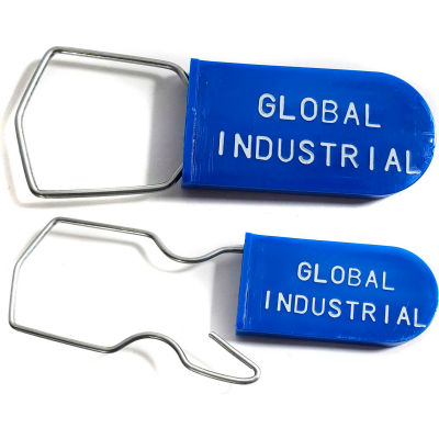 Global Industrial™  Wire Hasp One Piece Padlock Seal, Blue, 1000/Pack