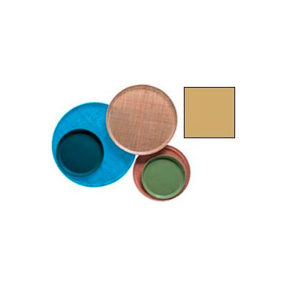"""Cambro 1000514 - Camtray 10"""" Round,  Earthen Gold - Pkg Qty 12"""