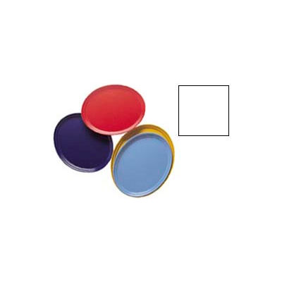 """Cambro 2500148 - Camtray 19"""" x 24"""" Oval,  White - Pkg Qty 6"""