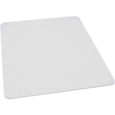 "Interion® Office Chair Mat for Carpet - 46""W x 60""L - Straight Edge- No Packaging - Pkg Qty 25"