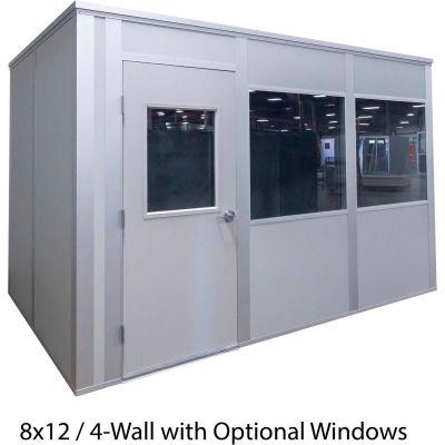 Porta-King Inplant Office, Gray Vinyl Int & Gray Stl Ext, 10x10, 3-Wall, Class A Fire & STC27 Sound