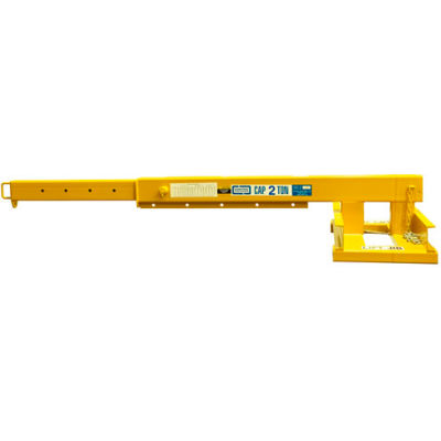 "Contrx Telescoping Forklift Jib-Lift Crane JLT430 - 4000 Lb. Capacity - 30"" On-Center Fork Pockets"