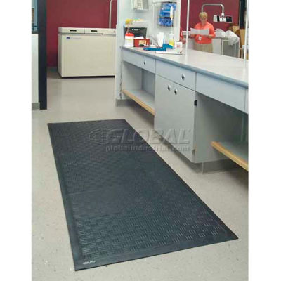 """Cushion Station™ Anti Fatigue Mat 7/16"""" Thick 3' x 8' Black"""