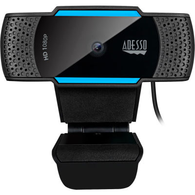 Adesso® 1080P HD Auto Focus Webcam with Built-in Dual Microphone and Privacy Shutter Cover