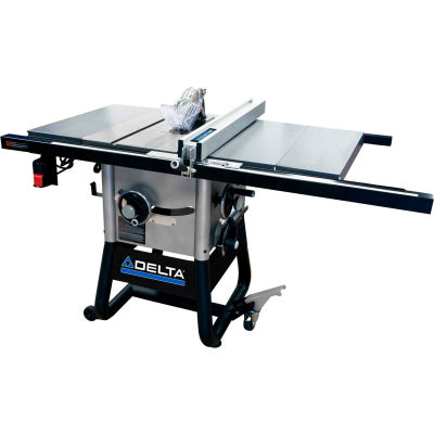 Delta 36-5000 10 In. Left Tilt Table Saw W/30 In. Right Rip, Steel Extension Wings