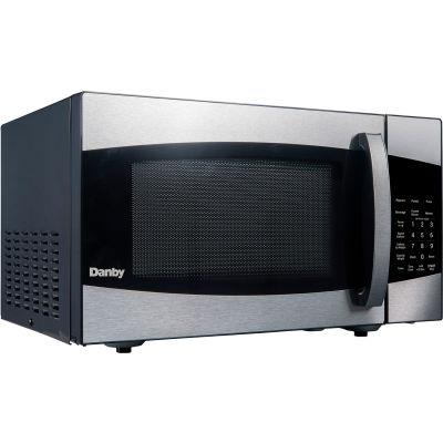 Danby® DMW09A2BSSDB, Microwave Oven, 0.9 Cu. Ft., 900 Watt, Touchpad Controls