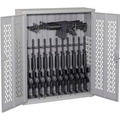 Datum Argos Gun Cabinet AWC50H12R-2 - Holds 12 Rifles & 3 Horizontal Rifles 42x15x45 Battleship Gray