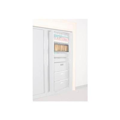 Rotary File Cabinet Components, Letter Depth Hanging Folder Drawer, Light Gray
