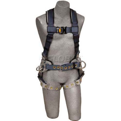 ExoFit™ Iron Worker Harness 1100533, Back Pad, Back D-Ring, Belt W/Side D-Rings, X-Large