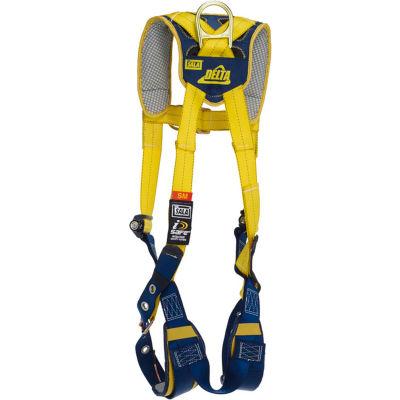 3M™ DBI-SALA® Delta™ Comfort Vest-Style Climbing Harness, Tongue Buckle/Pass Thru, L