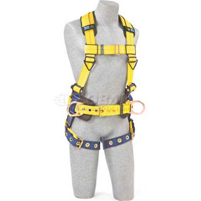 DBI-Sala™ Construction Style Harness 1102201, W/Back & Side D-Rings, Tongue Buckle Legs, Small