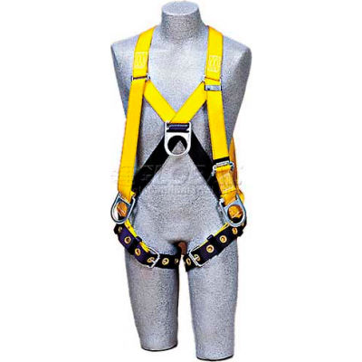 DBI-Sala™ Step-In Style Harness 1102877, Front, Back & Side D-Rings, Tongue Buckle Legs, Large
