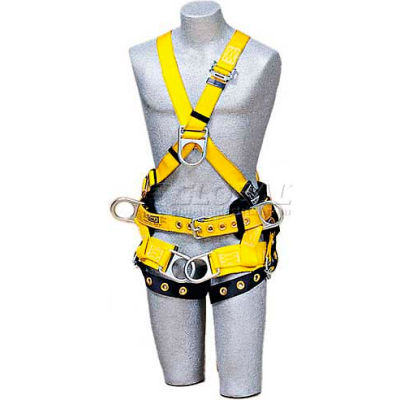 DBI-Sala™ Tower Climbing CrossOver Style Harness 1103350, Front D-Ring & Side D-rings, Large