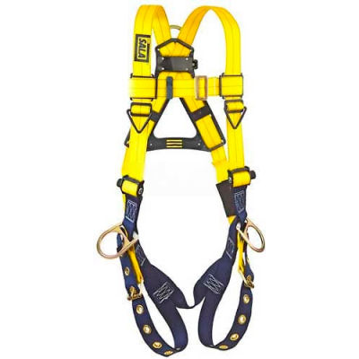 DBI-Sala™ Vest Style Harness 1104875, W/Back & Side D-Rings, Tongue Buckle Legs, X-Large
