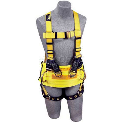 DBI-Sala™ Derrick Style Harness 1105827, W/Back & Side D-Rings, Tongue Buckle Legs, Medium