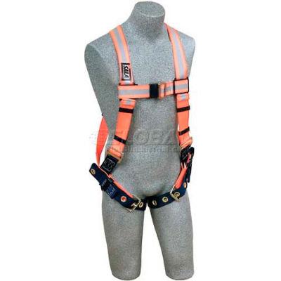 3M™ DBI-SALA® Delta™ Reflective Vest Harness 1106201, Back D-Ring, Tongue Buckle Legs