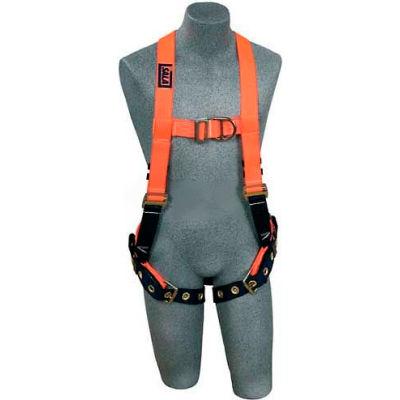 3M™ DBI-Sala™ Hi-Visibility Orange Vest Style Harness 1107811, Front/Back D-Ring, Small