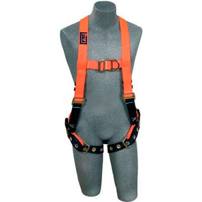3M™ DBI-Sala™ Hi-Visibility Orange Vest Style Harness 1107812, Front/Back D-Ring, Medium