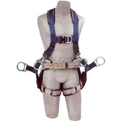 3M™ DBI-SALA® ExoFit™ Tower Climbing Harness 1108657, Front/Back/Side D-Rings, XL