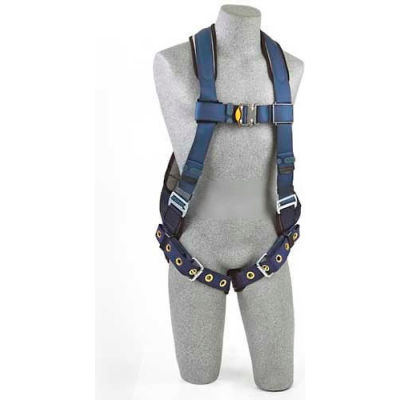 ExoFit™ Vest Style Harness 1109356, W/Back D-Ring, Loops For Belt, Tongue Buckle Legs, Small