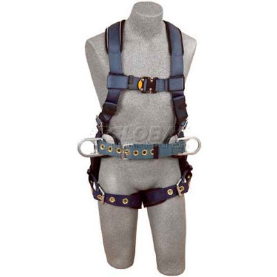 ExoFit™ Construction Style Harness 1110476, W/Back & Side D-Rings, Tongue Buckle Legs, Medium