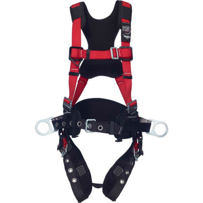 3M™ Protecta® Comfort Construction Style Positioning Harness, Tongue Buckle/Pass Thru, M/L