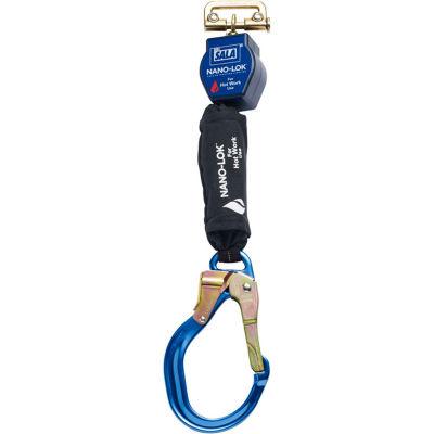3M™ DBI-SALA® Nano-Lok™ Self Retracting Lifeline, Aluminum Lock Rebar Hook, 6'