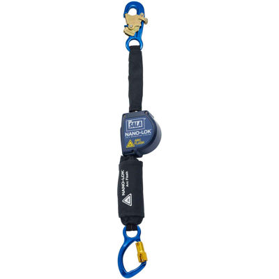 DBI-SALA® Nano-Lok™ Arc Flash Self Retracting Lifeline W/Anchor Hook, Carabiner, 8'